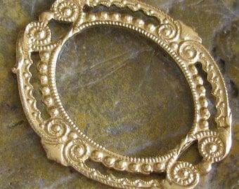 6 Raw Brass Window layering Piece Metal Stamping 1218