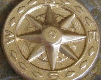 6 Raw Brass Wind Star Weather Vein Compass Metal Stamping 1224