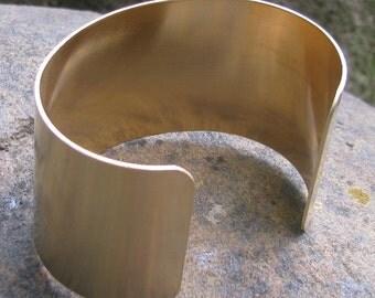 1 Smooth Raw Brass 1 1/2 inch cuff bracelet blank 1090