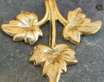 Brass Leaf Branches Botanical Jewelry Making Supplies 1314 - 6 Pcs