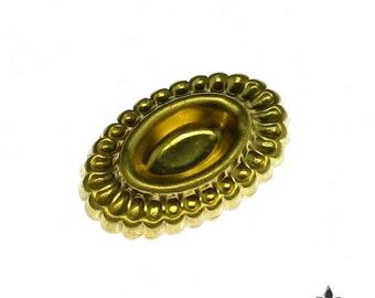 Brass Oval Setting 10 x 5 Bezel Jewelry Finding 854 - 12 Pcs