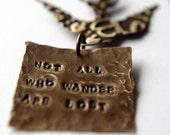 Handstamped Quote Necklace