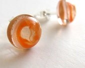 Orange Protozoan Earrings