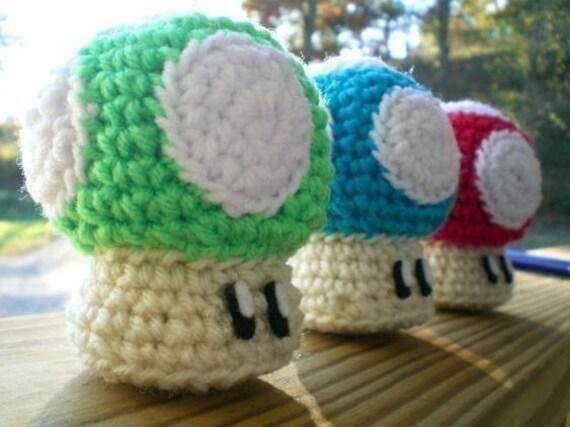 Amigurumi Mushroom Crochet Patterns : Mario Mushroom Amigurumi Pattern PDF by BookieWookie13 on Etsy