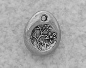 Green Girl Studios Pewter Flower Charm