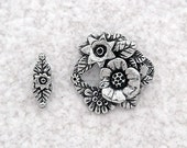 Green Girl Studios Pewter Bouquet Clasp