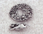 Green Girl Studios Pewter Bunny Toggle Clasp