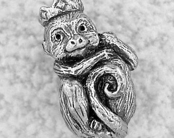 Green Girl Studios Monkey King Pewter  Bead