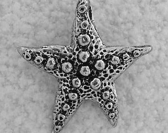 Green Girl Studios Starfish Wish Pewter Pendant