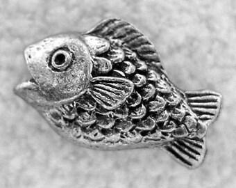 Green Girl Studios Pewter Fishy Bead