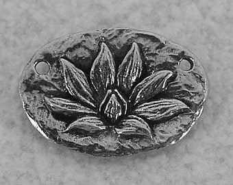 Green Girl Studios Pewter Lotus Blossom Pendant
