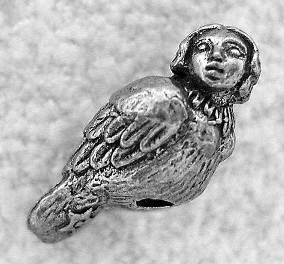 Green Girl Studios Harpy Girl Pewter Bead