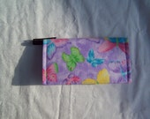 Butterfly check book cover or coupon holder