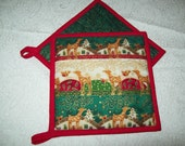 Christmas Reindeer Potholder set