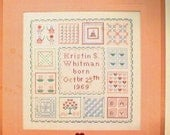CROSS STITCH PATTERN - Baby Quilt Sampler - Personalized