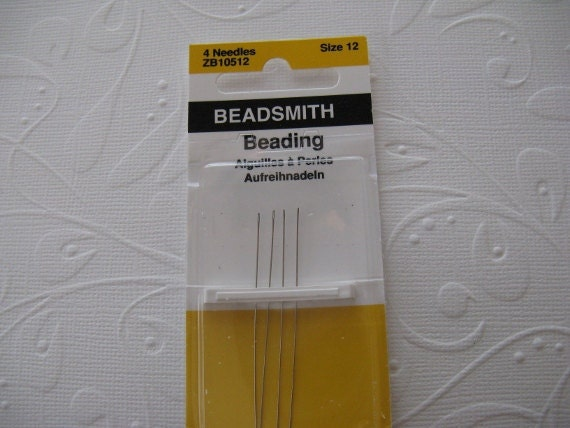 Size 12 English Beading Needles 4 pack (BN124)