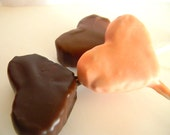 Julie's FUDGE POPS -White Chocolate RASPBERRY Fudge Covered in Belgian Chocolate - 3 Hearts (2/3lb) -- Perfect Valentine