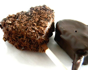 Julie's HEART SHAPED Fudge Pops - Coffee Fudge - 2/3 pound - Three Hearts Total
