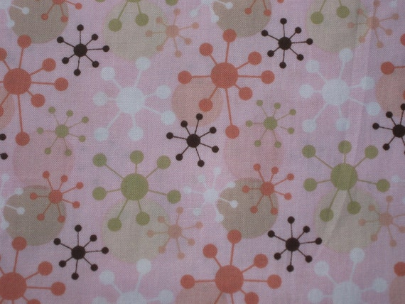 SALE One Yard of Pink Jacks Cotton Quilting Fabric
