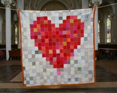 PIxelated Heart Throw Blanket