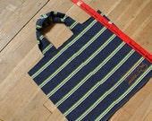 Recycled T-Shirt Bag - Navy Striped Bag