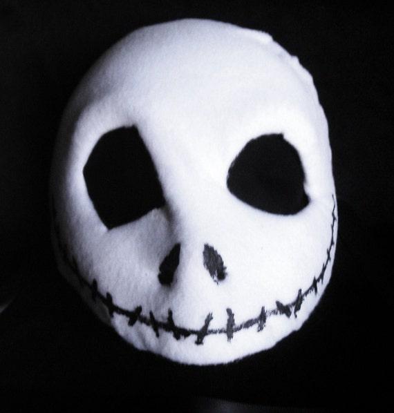 Jack Skellington - Nightmare Before Christmas Costume Mask in Papier-Mache and Felt