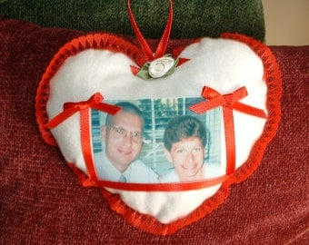 "Heart-Shaped Photo Pocket, Love, Romance ""My Flat in Paris""- Valentine's Day"