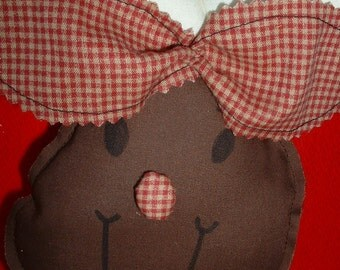 """Christmas Moose, """"Christmoose"""", Soft, Stuffed Cloth Tree or Package Ornament"""