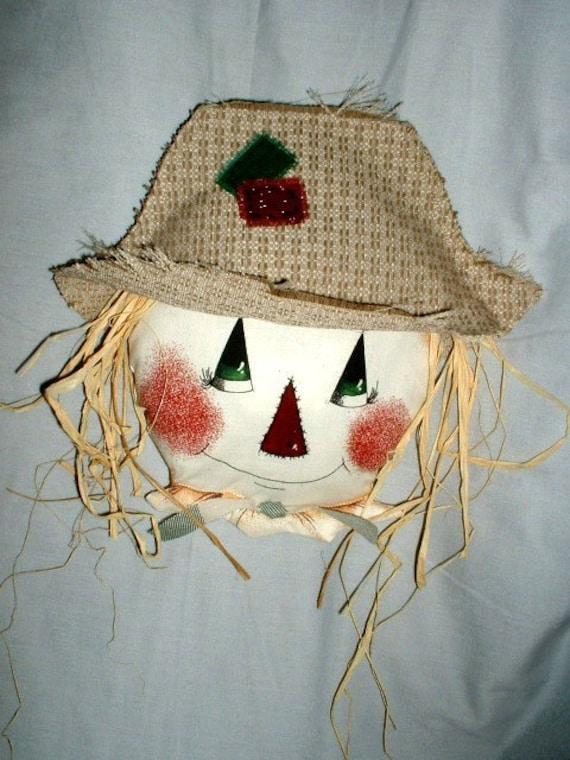 Handmade Scarecrow Face Fall, Halloween Decoration