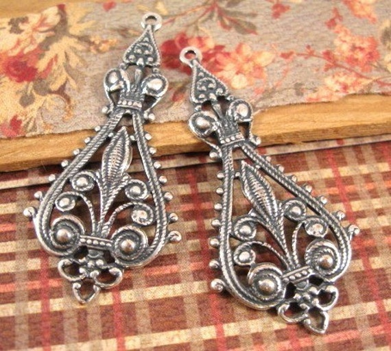Lehi Pendants from Trinity Brass in Antique Silver - 2 Count