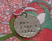 Run Like a Girl Necklace...Runner's Necklace...NEW