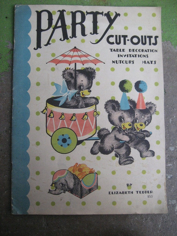 1930s party cut outs table decorations by rudysroundup on etsy for 1930s decoration