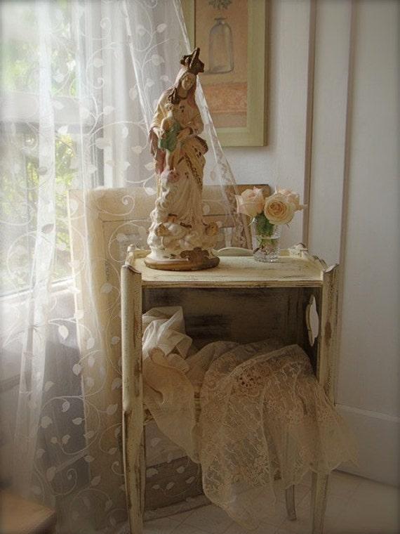 Beautiful French Madonna & Child Statue