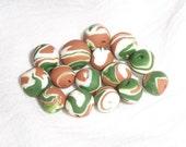 handmade, free-formed fimo clay beads - earthy