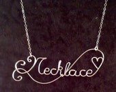 CUSTOM Wire Name or special word in Non-Tarnish Silver Plated Wire