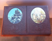 The Old West Two Leather Bound Volumes, The Chroniclers, The Expressmen