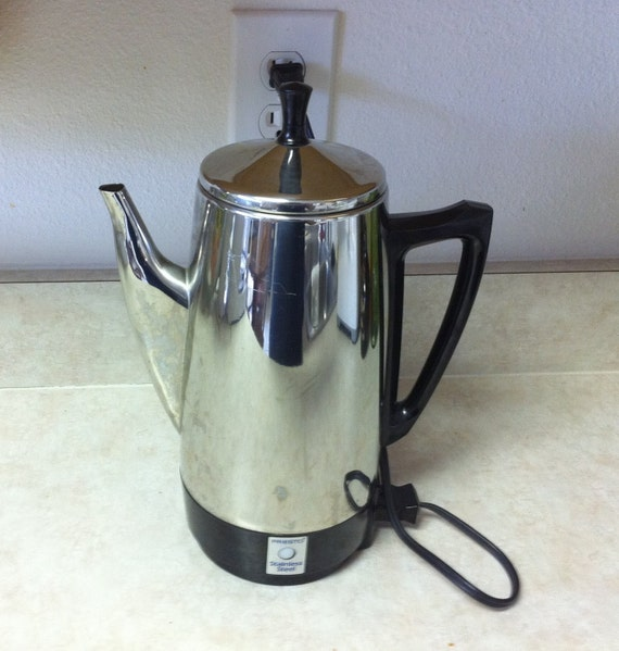 Electric Percolator Coffee Maker Reviews : Vintage Electric Coffee Percolator