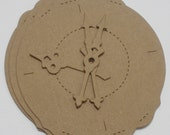 4 ORNATE CLOCK - with Clock Hands -  Raw CHiPBOARD Bare Die Cuts Shapes