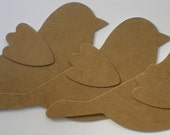 BiRD w/ WiNGS -  Raw Unfinished Chipboard Die Cuts
