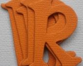 "ORANGE Chipboard Alphabet Letters & Die Cuts - 1.5"" tall"
