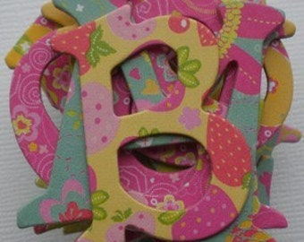BERRY SWEET - 52 Piece -  Chipboard Alphabet Letters and Tags --  NEW