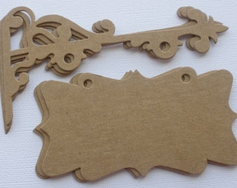 Elegant HANGING SIGN with  POST -  Raw CHiPBOARD Bare Die Cuts
