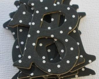 BLACK - Polka Dot DOODLEBUG  Chipboard Letters