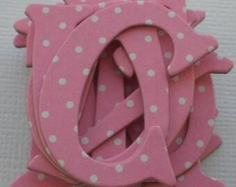 CUPCAKE PINK - Polka Dot DOODLEBUG  Chipboard Letters