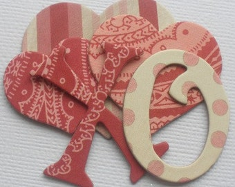 "OHH LA LA  - Valentine's Day Chipboard Letters  - Alphabet Die Cuts - Love Embellishments  1.5"" inch Tall"
