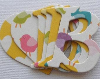 "BETTY BiRD  Doodlebug Letters -   Chipboard Alphabet  Letters & Pretty Shape Die Cuts - 1.5"""
