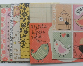 LiTTLE THiNGS -  JOURNAL KiT - Titles - Journaling Notes - Quotes - Picture Cards CHiPBOARD Embellishment Kit Die Cuts
