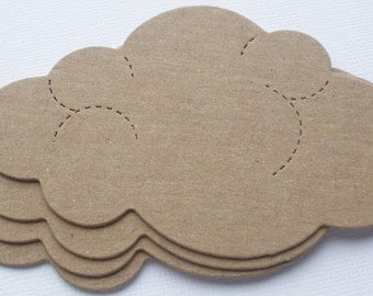 4 CLOUDS - Summer Cloud Raw CHiPBOARD Unfinished Bare Die Cuts