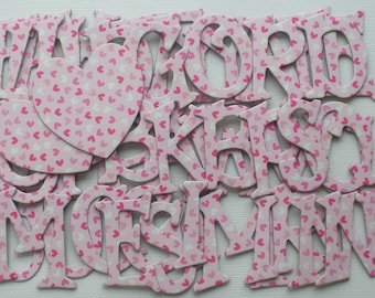 Itty Bitty Hearts - Valentine Chipboard Letters Alphabets and Heart - Die Cuts 1.5 inch