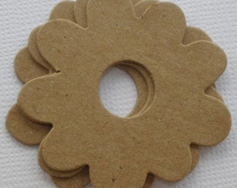"""FLOWER PETALS -  Layering Raw Bare Unfinished Chipboard Die Cuts - 2"""""""